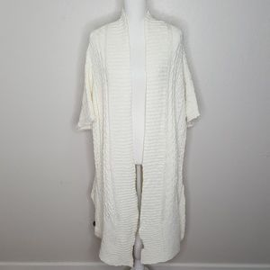 Three Dots Cream Chunky Knitted Oversized Sweater
